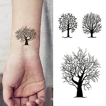 908d655f7 Amazon.com : Oottati Small Cute Temporary Tattoo Tree Totem (2 Sheets) :  Beauty
