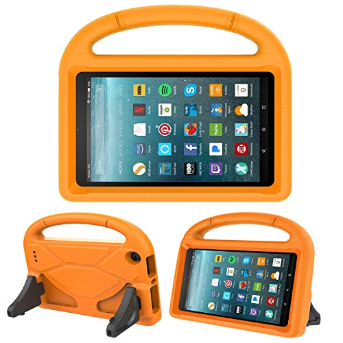 Kids Case for All-New Fire 7 2019/2017 - TIRIN Light Weight Shock Proof Handle Kid-Proof Cover Kids Case for Amazon Fire 7 Tablet (9th/ 7th/ 5th Gen, 2019/2017/ 2015 Release)(7 Display), Orange