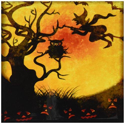 3dRose cst 24144 3 Halloween Backdrop Coasters