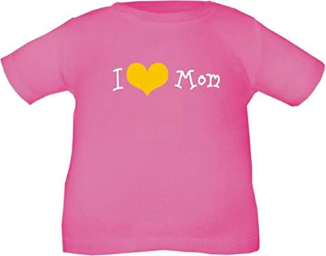 Kinder T-Shirt (Farbe fuchsia) (Größe 60/66) I love