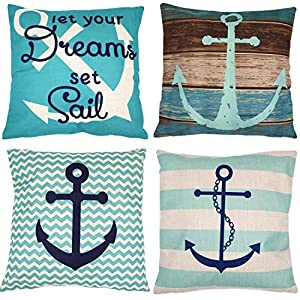 51myirXLn0L._SS300_ 100+ Nautical Pillows & Nautical Pillow Covers