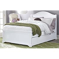 NE Kids Walnut Street Morgan Arch Bed with Trundle, White, Full