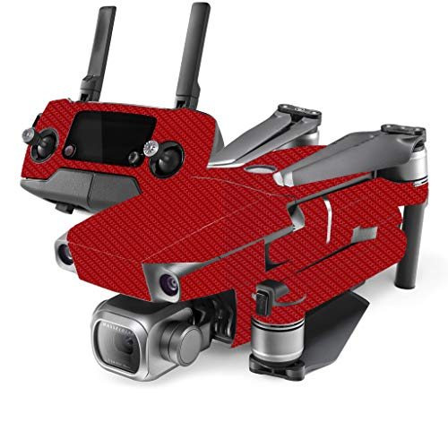 DJI Mavic 2 Protective Skin Wrap Kit (Carbon Fiber) (Includes Drone Skin, Controller Skin & 2 Battery Skins) (for Mavic 2 Pro & Mavic 2 Zoom) (Red) For Sale