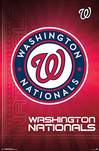 (Trends International Washington Nationals-Logo Mount Bundle Wall Poster 22.375