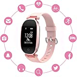INorton Smart Watch S3 Bluetooth Fitness Tracker with Heart Rate Monitor , Waterproof Smart watch for Fashion Women Ladies,Android IOS