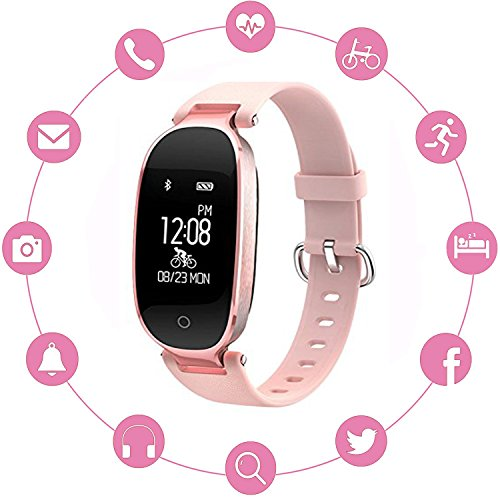 INorton Smart Watch S3 Bluetooth Fitness Tracker with Heart Rate Monitor , Waterproof Smart watch for Fashion Women Ladies,Android IOS by INorton