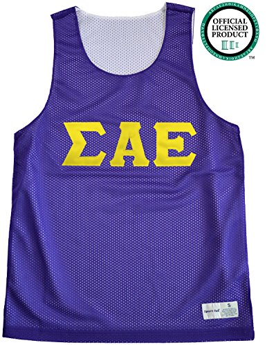 SIGMA ALPHA EPSILON Unisex Mesh SAE Tank Top. Gold Sewn Letters, Various Colors
