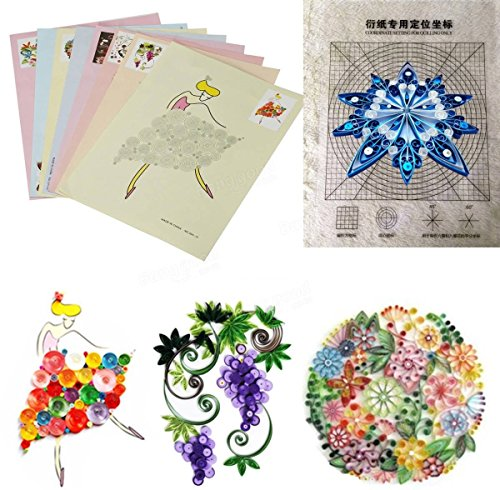 HITSAN 18PCS DIY Release Drawing Locating Paper Quilling Tool Craft Paper Art Collection Set One Piece by HITSAN