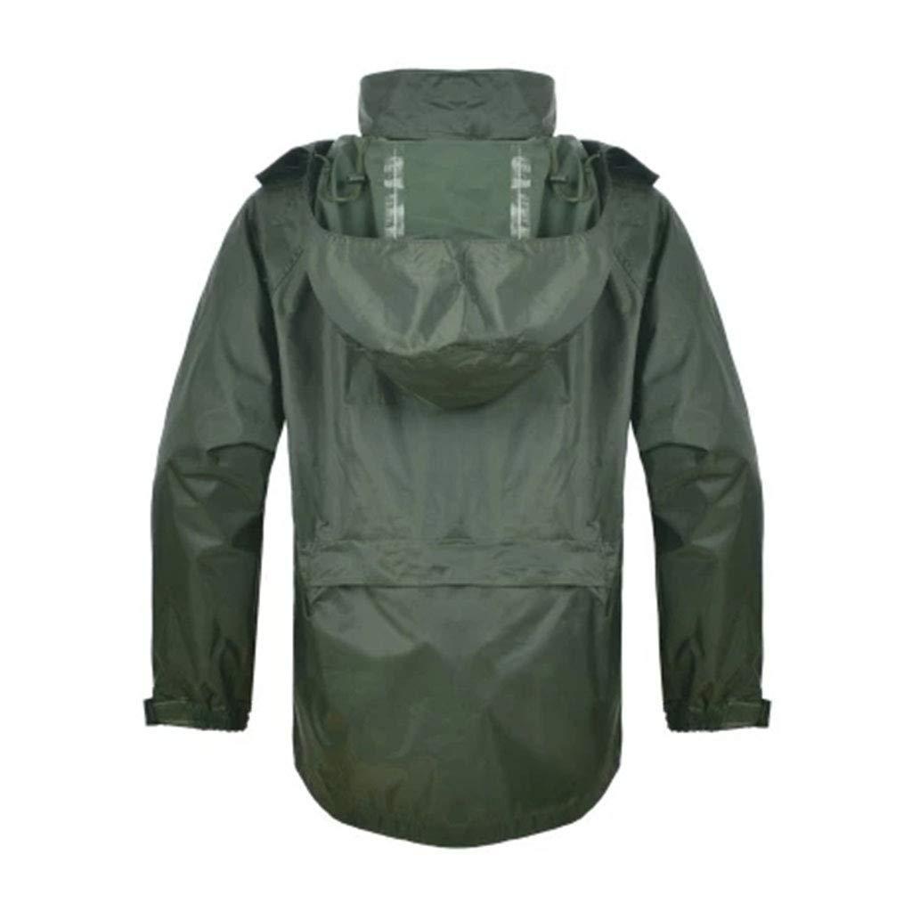 vert grand JTWJ Imperméable de Plein air imperméable en Plein air imperméable imperméable (Couleur   vert, Taille   L)