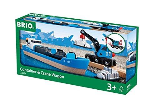 BRIO Freight Ship and Crane ()