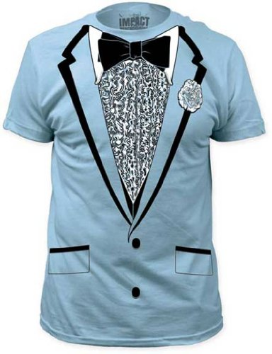 Impact Originals Retro Prom Blue Tux T-shirt