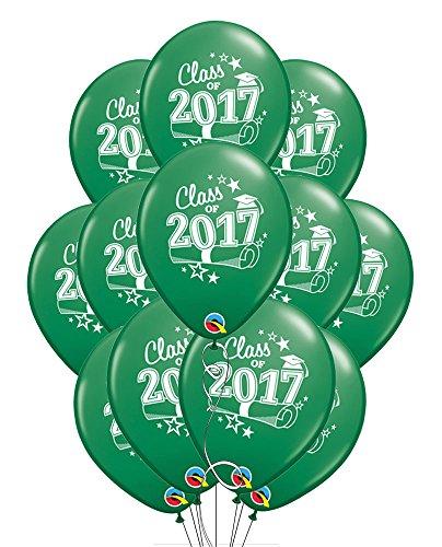 [해외]2017 년 졸업생 클래스 11 녹색 라텍스 풍선 - 12 팩/Class of 2017 Graduation 11  Green Latex Balloons - Pack of 12