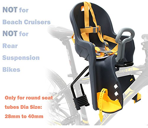 Bicycle Kids Child Front Baby Seat bike Carrier USA Standard with Handrail by CyclingDeal (Image #5)