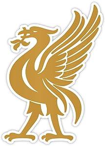 """Liverpool emblem bird gold sticker decal 4"""" x 5"""""""
