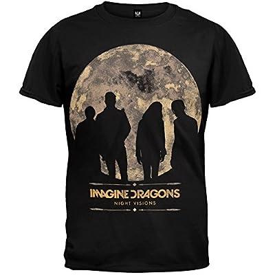 "Wholesale Adult Imagine Dragons ""Night Visions Tour 2013 (Charlotte-Vegas)"" Black T-Shirt for cheap"