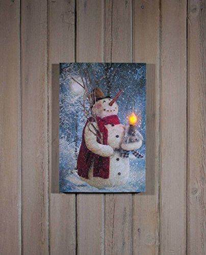 Ohio Wholesale Woodland Snowman Lighted Canvas 16.625
