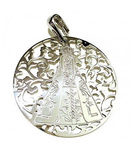 Médaille Vierge Notre-Dame de BEGOÑA Argent de Loi 40mm