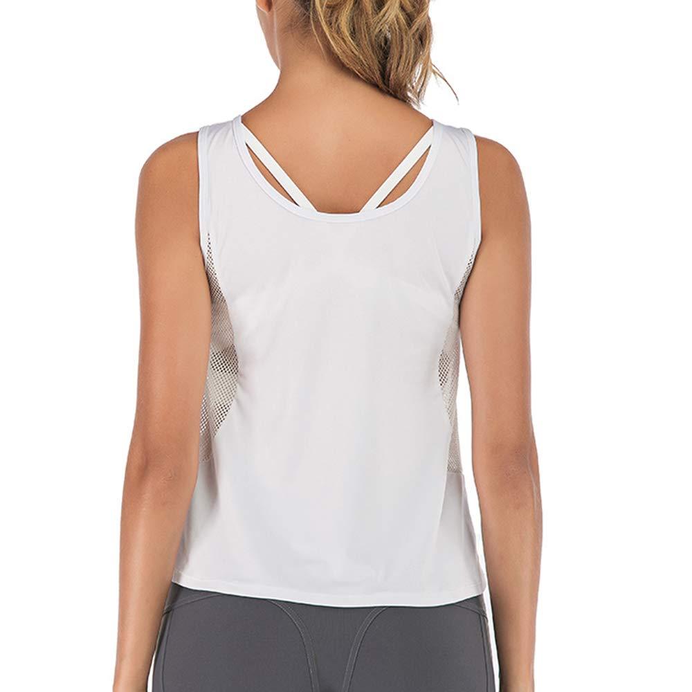 Manooby Camicie Yoga Donna Sport Palestra Abiti Top Sportswear Donna Backless Canotta Maglie Senza Maniche da Yoga Sport Top Fitness Tank