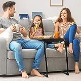 LORYERGO TV Tray Table - Adjustable TV Dinner