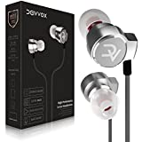 Deivvox Earphones - Wired Earbuds with Microphone Mic - in Ear Headphones Earbud Noise Cancelling Isolating in-Ear Earphone Deep Bass Ear Buds Compatible iPhone iPod Samsung Smartphones Tablets 3.5mm