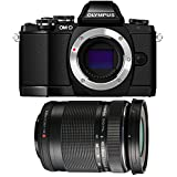 Olympus OM-D E-M10 Mirrorless Digital Camera (Black) Body only V207020BU000 + Olympus M. 40-150mm F4.0-5.6 R Zoom Lens (Black) for Olympus and Panasonic Micro 4/3 Cameras V315030BU000