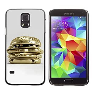 Designer Depo Hard Protection Case for Samsung Galaxy S5 / Golden Hamburger by icecream design