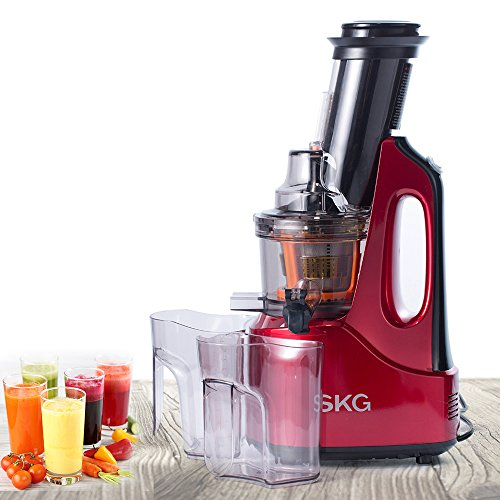 SKG Wide Chute Anti-Oxidation Slow Masticating Juicer (240W AC Motor, 60 RPMs, 3