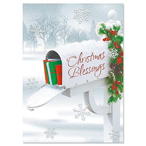 (Holiday Delivery Religious Personalized Christmas Cards - Set of 18)