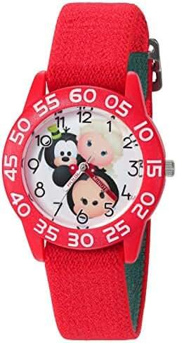 Disney Mickey Mouse Kids' W003011 Mickey Mouse Analog Display Analog Quartz Red Watch