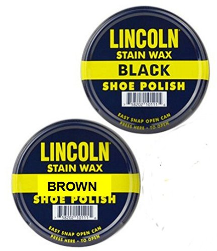 Lincoln Stain Wax Shoe Polish - Black & Brown