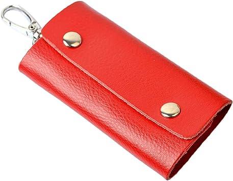 Vosarea Estuche para llaves con soporte para llaves de cuero con 5 ganchos para llaves para billetera para mujer hombre: Amazon.es: Bricolaje y herramientas