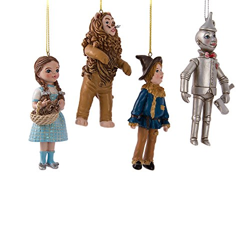 Kurt Adler C7958 6 Wonderful Wizard of Oz Ornament Set of 4