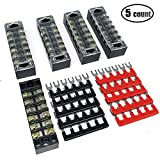 IZTOSS 6 Positions 600V\15Amp terminal block kits Terminals Included Red and Black 10 Pcs