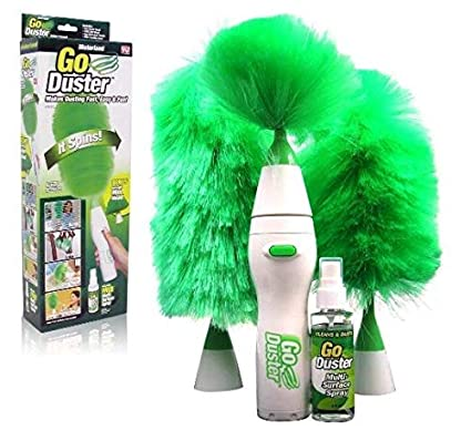 8b734519644 Go Dust Electric Feather Spin Home Duster, Hand-Held Home Cleaning ...