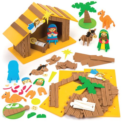 Nativity Stable 3D Scene Kits Perfect For Xmas Children's Arts, Crafts And Decorating For Boys And Girls (Each)
