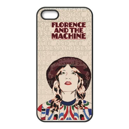 Florence And The Machine 002 coque iPhone 5 5S cellulaire cas coque de téléphone cas téléphone cellulaire noir couvercle EOKXLLNCD23709