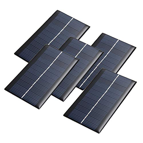 HiLetgo 5pcs 6V 1W Mini Solar Panel Module DIY for Light Battery Cell Phone Toys Chargers 110602.5mm