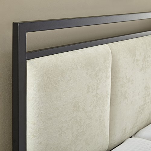 Flex Form Rosetta Metal Platform Bed Frame / Mattress Foundation with Headboard and Footboard, Full by Flex Form (Image #2)