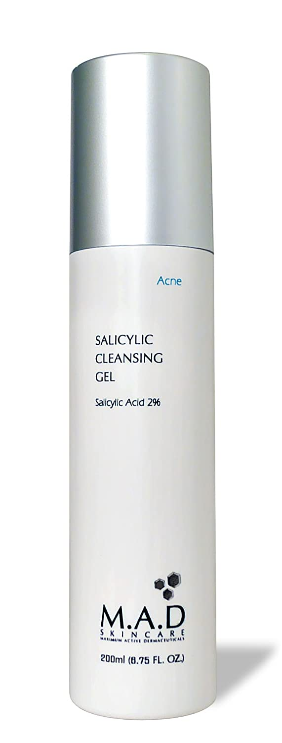 M.A.D Skincare Salicylic Cleansing Gel - Acne Facial Wash 6.75 oz.: Beauty
