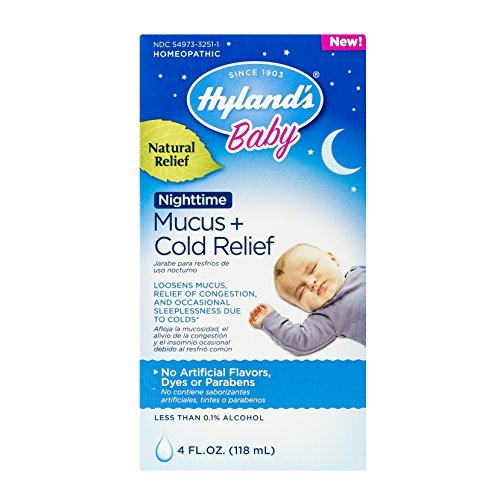 Hyland's Baby Nighttime Mucus + Cold Relief, Natural Reli...