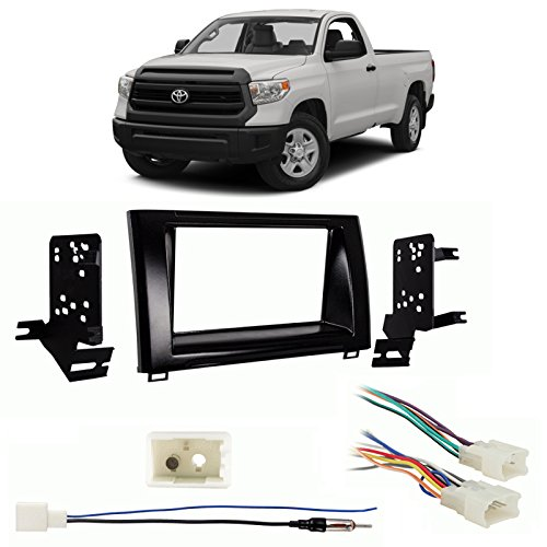 Fits Toyota Tundra 14-18 Double DIN Car Stereo Harness Radio Install Dash Kit Package