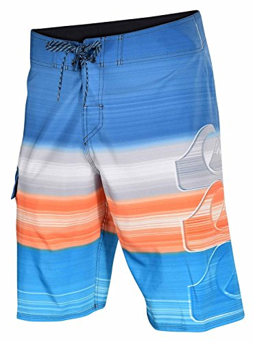 (Quiksilver Mens Hilo 4 Way Stretch Board Shorts-Blue/Orange)