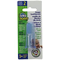 Baby Buddy Finger Toothbrush Stage 2 for Babies/Toddlers, Kids Love Them, Blu...