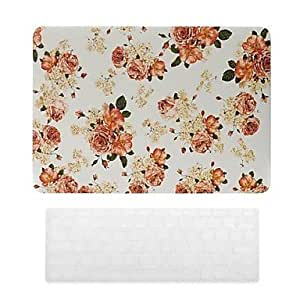 ZCL Beautiful Rose Pattern PC Hard Case with Keyboard Cover Skin for MacBook Retina , 15.4""