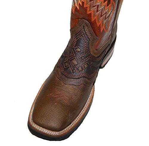 ... Dona Michi Menns Ekte Ku Skjule Vestlige Skinn Cowboy Boots Dyr Print  Cognac-choco ...