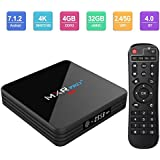 Android TV Box, HAOSIHD MXR Pro Plus Android 7.1 TV Box with 4GB RAM 32GB ROM RK3328 Quad-core, Support 4K Full HD Dual-Band Wi-Fi 2.4/5Ghz BT 4.0 Mini Box with Remote Control