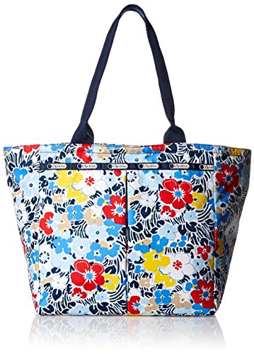 - LeSportsac Everygirl Tote Handbag, Ocean Blooms Navy, One Size