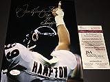 Dan Hampton Chicago Bears HOF 2002 JSA Witness COA Autographed Signed 8x10 Photo Picture
