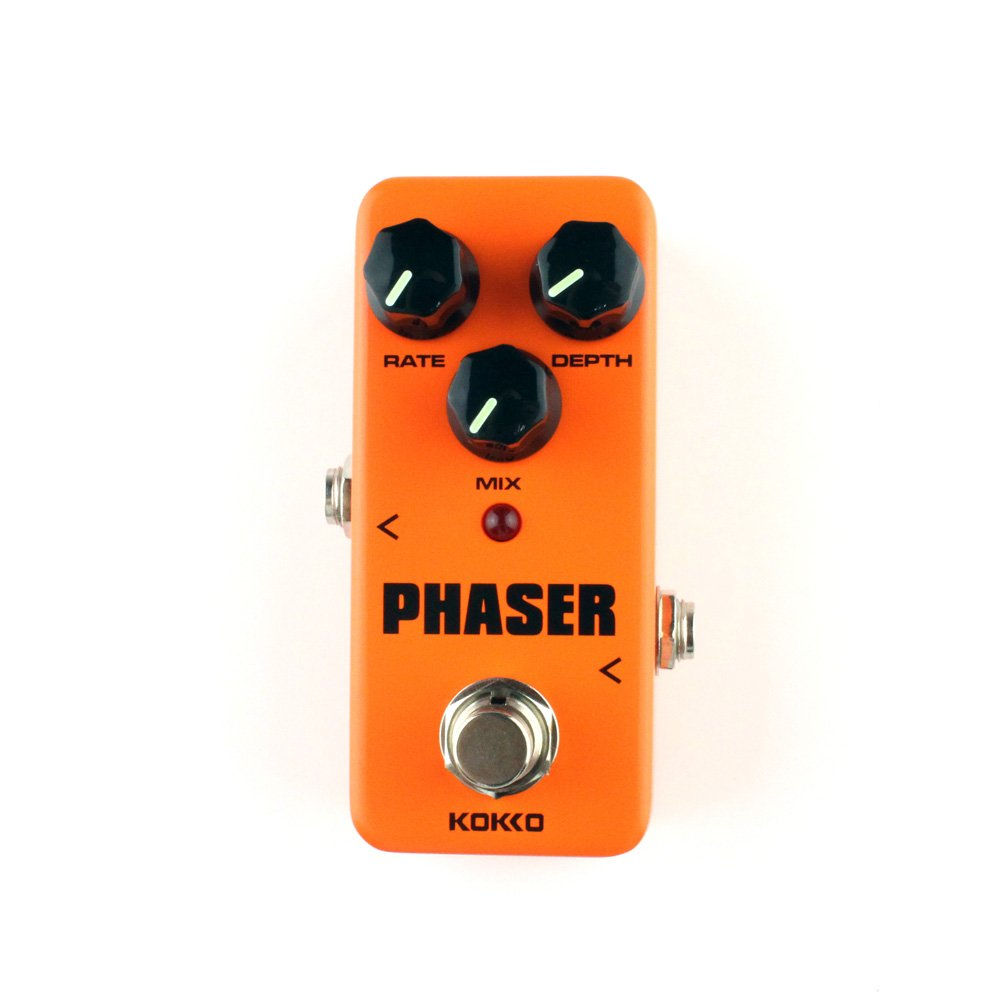 Guitar Mini Effects Pedal Phaser - Warm Analog Phase Effect Sound Processor Portable Accessory for Guitar and Bass - FPH2