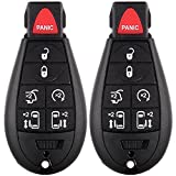 Keyless Shell,ECCPP 2 Replacement Key Case Shell Fob Keyless Remote 7 Button Uncut For 2008-2012 DODGE CHRYSLER JEEP M3N5WY783X,IYZ-C01C